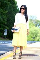Zara bag - Zara blouse - Zara skirt - Zara heels