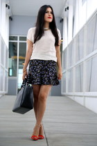 Zara bag - Zara skirt - Zara sandals - ann taylor blouse - H&M necklace