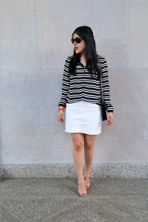 Zara sandals - Ralph Lauren sunglasses - Zara skirt - Zara blouse