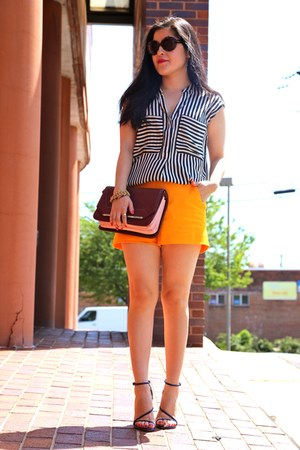 bag - shorts - Zara top - sandals