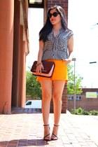 bag - shorts - Zara top - sandals