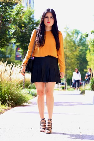 Zara bag - Forever 21 top - Zara skirt - Zara sandals