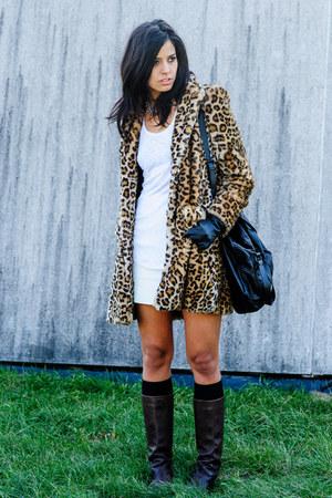 brown Zara coat - dark brown Max Mara boots
