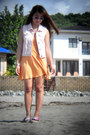 Orange-skater-h-m-dress-bubble-gum-vans-sneakers