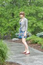 Blue-target-dress-heather-gray-banana-republic-blazer-red-target-flats