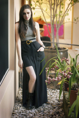 maxi skirt The Kooples skirt - American Apparel top - Givenchy belt