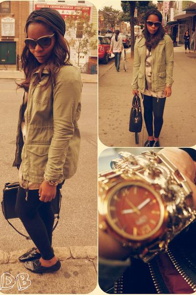 H&M jacket - Jeffery Campbell shoes - f21 blouse