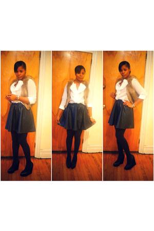 H&M skirt - Aldo shoes - Loft blouse - H&M vest