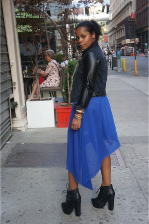 Deena & Ozzy shoes - Urban Outfitters dress - H&M jacket - Express shorts