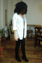 black new look shoes - beige GINA TRICOT sweater