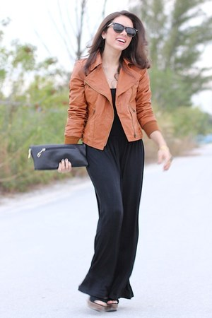 black Steve Madden shoes - tawny causeway mall jacket - black Mimi Boutique bag