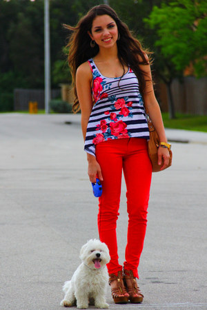 Mimi Boutique bag - Zara pants - Steve Madden wedges - Forever 21 top - casio wa