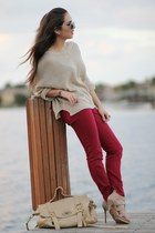 beige knit causeway mall sweater - beige Shoedazzle shoes