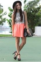 black pink and pepper shoes - black Forever 21 hat