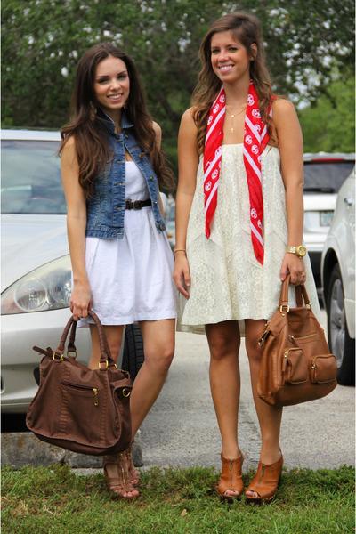 Forever 21 dress - Mimi Boutique bag - Forever 21 vest - Steve Madden heels - Mi