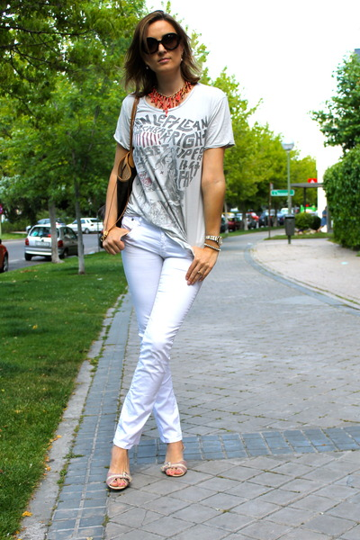 Zara t-shirt - ck shoes - Corleone jeans