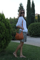 Zara sandals - lamarthe bag - dior sunglasses - Zara blouse - Zara skirt