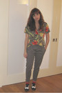 Ruby-red-vintage-shirt-heather-gray-silence-noise-pants-white-oxfords-cande