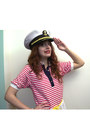 Blue-asos-shoes-white-nautical-vintage-dress-white-captain-vintage-hat