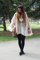 H&M scarf - Gap bag - knit thrift cape