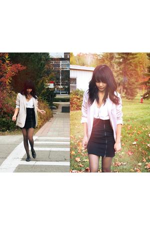 silver H&M blazer - black Zara skirt