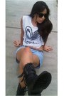 Black-army-boots-boots-white-forever-21-shirt-light-blue-shorts