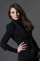 black Zara jacket - black Mango pants