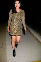 gold Rodarte for Target dress - simply vera wang boots - Dolce & Gabbana purse