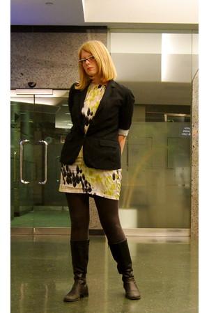 Vero Moda dress - Gap blazer - Aldo boots