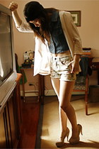 cotton on blazer - Forever 21 shorts - The Second Shop vest - Forever 21 heels