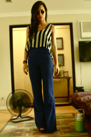 Forever 21 pants - Bazaar shirt - vintage sunglasses