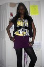 Black-jacket-black-tights-purple-skirt-gold-blouse-black-belt