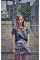cotton Durumi t-shirt - zigzag Durumi skirt