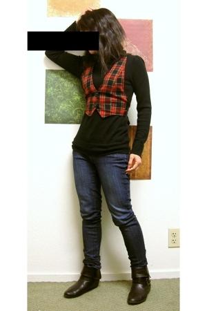 sweater - vest - boots