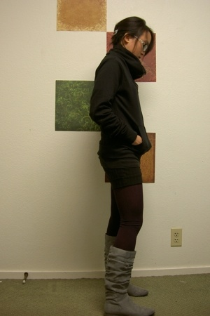 jacket - shorts - boots - stockings