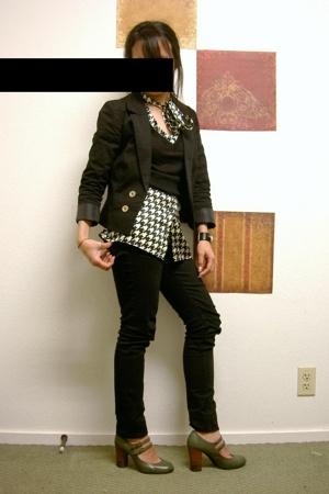 H&M blazer - blouse - jeans - payless shoes
