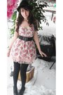 Pink-forever-21-blouse-black-forever-21-belt-pink-skirt-black-stockings-