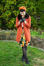 Carrot-orange-princess-highway-coat-carrot-orange-thrifted-scarf