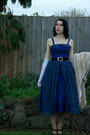 Navy-made-by-me-dress-black-thrifted-belt-white-dangerfield-necklace