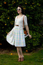 White-pastel-plaid-made-myself-dress-brown-thrifted-belt