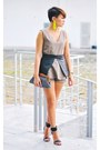 Yellow-neon-earrings-dark-gray-woven-clutch-sm-accessories-purse