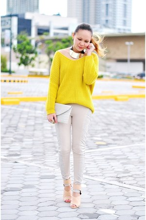 yellow knit jumper clothes for the goddess sweater