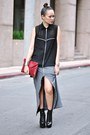 Black-mesh-buckled-miista-boots-brick-red-f21-purse