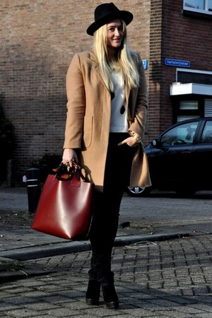 Zara bag - H&M Trend coat - Nudie jeans