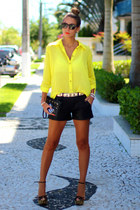 fringed CKS blouse - skulls Ligada na  moda bag - leather Pax shorts