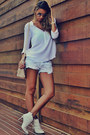 White-schutz-boots-white-zara-shirt-light-blue-denim-canal-shorts