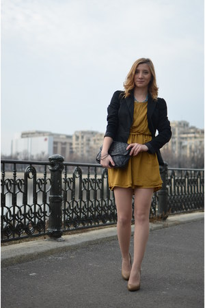 Stradivarius shoes - Lefties dress - new look blazer - Stradivarius bag