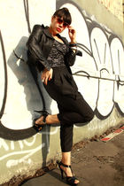 black Express jacket - black Riki top - black American Apparel intimate - black