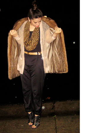 brown my great-grandmothers coat - black Forever 21 pants - beige rodarte x targ