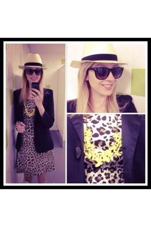 Lojas Renner dress - Maria Chapéu hat - romwe glasses